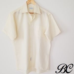 Vintage Christian Dior Shirt 60s 70s Yellow Casual